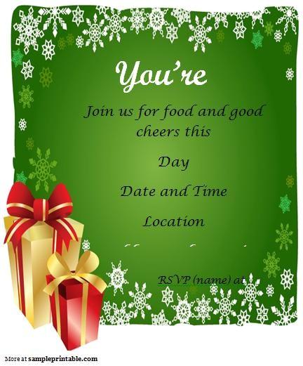 post christmas party free printable template 122837