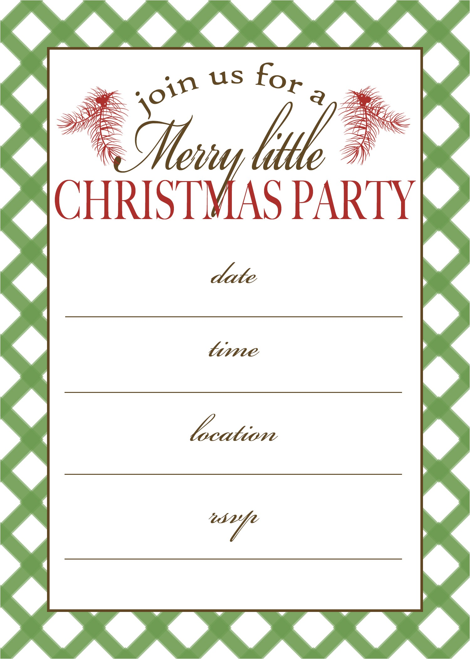 post free printable christmas invitation templates 195418