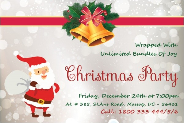 christmas invitation card designs