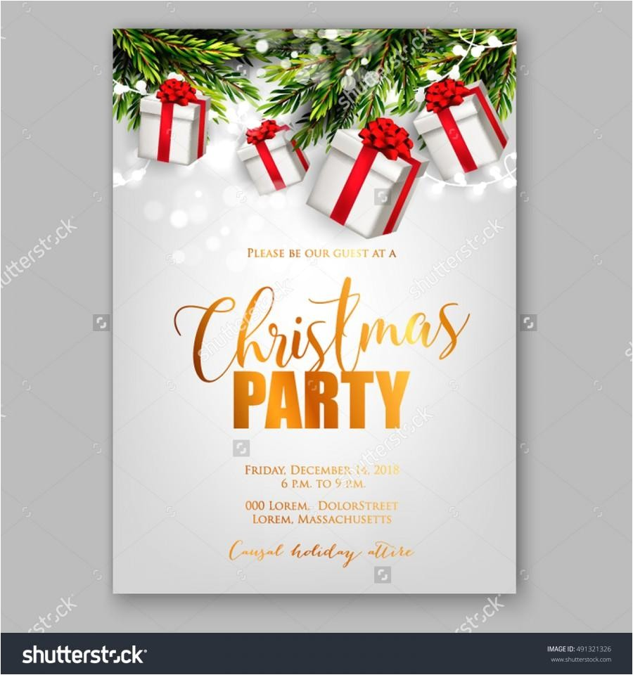 invitation card design christmas party
