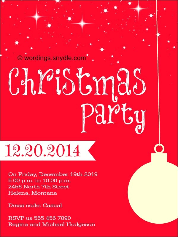 Christmas Party Invitation Rhymes Christmas Party Invitation Wordings Wordings and Messages