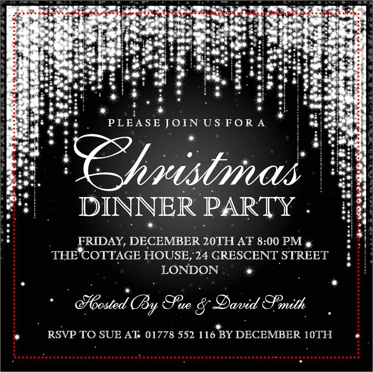 christmas invitation template