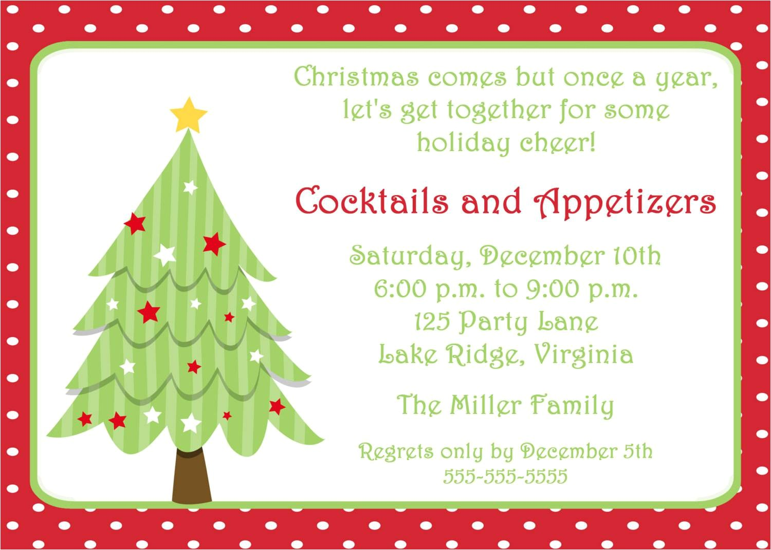 Christmas Party Invitation Samples Free Christmas Party Invitation Template Party Invitations