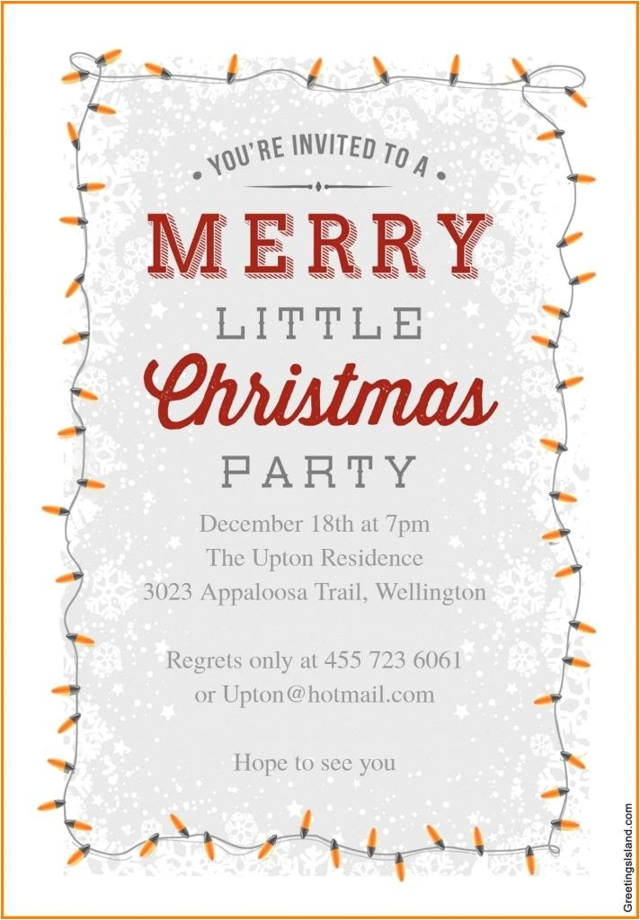 christmas holiday party email invitation template for outlook