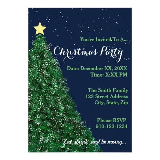 create your own christmas party invitation 256759827362247959