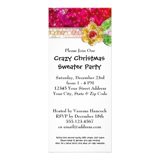 create your own ugly sweater christmas party invitation 161900243900079989