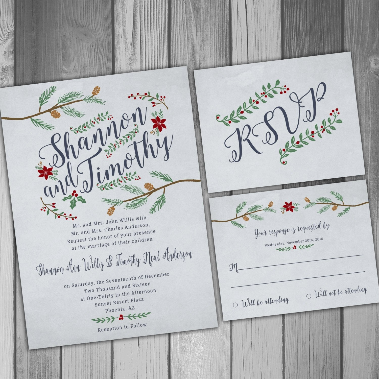 favorite winter wedding invitations