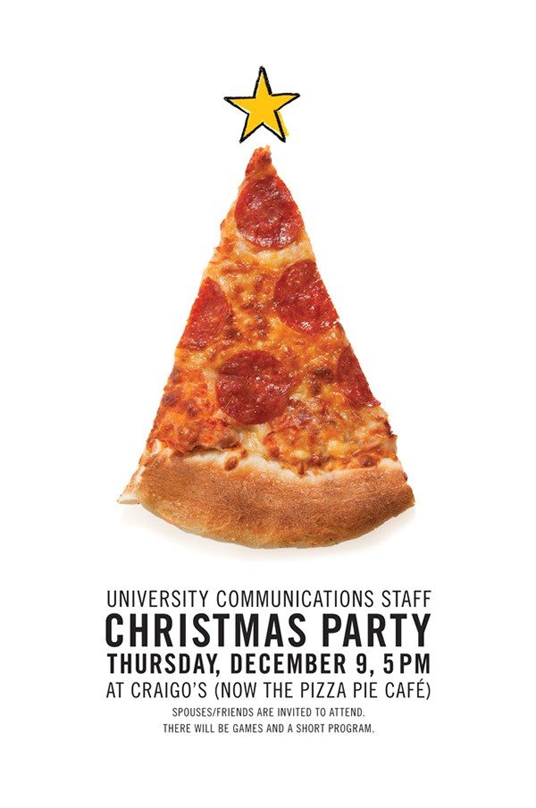 Christmas Pizza Party Invitations Christmas Invitations On Behance