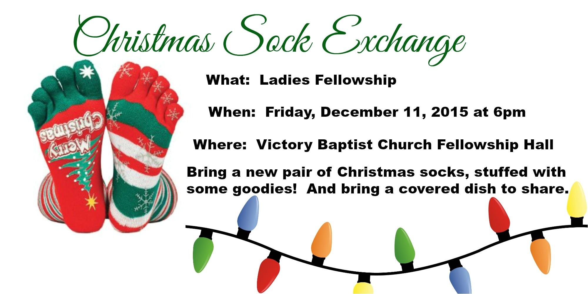 christmas sock exchange ladies fellowship 121115 6pm