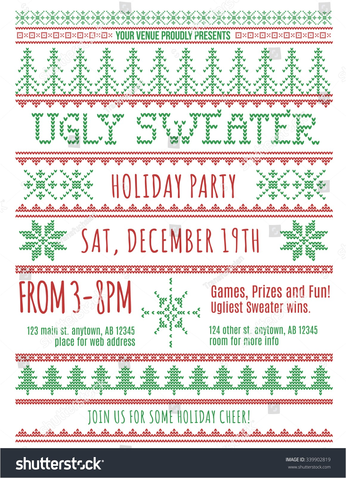 red green ugly christmas sweater party 339902819