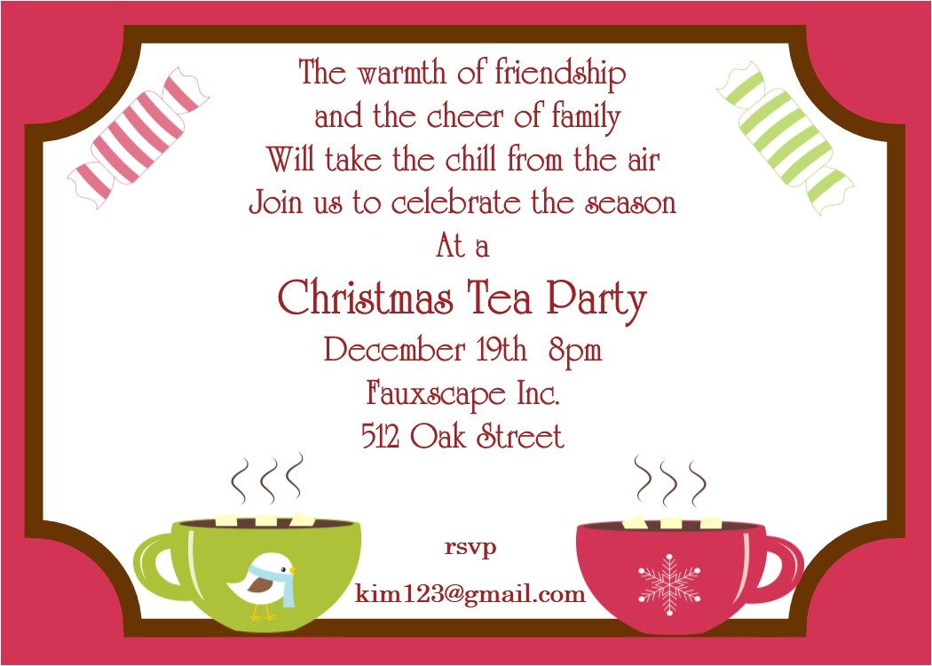 winter party tea