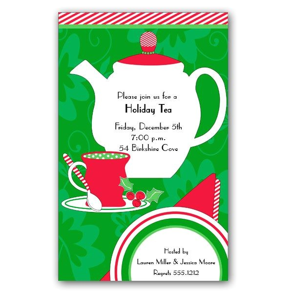 christmas tea time invitations p 84 a 12395