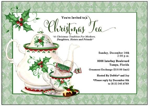 holiday tea invitation christmas tea