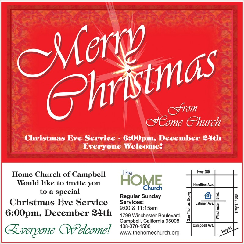 campbell s home church invites you to christmas eve service 6 pm december 24 2011