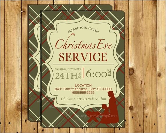 christmas eve service invitation