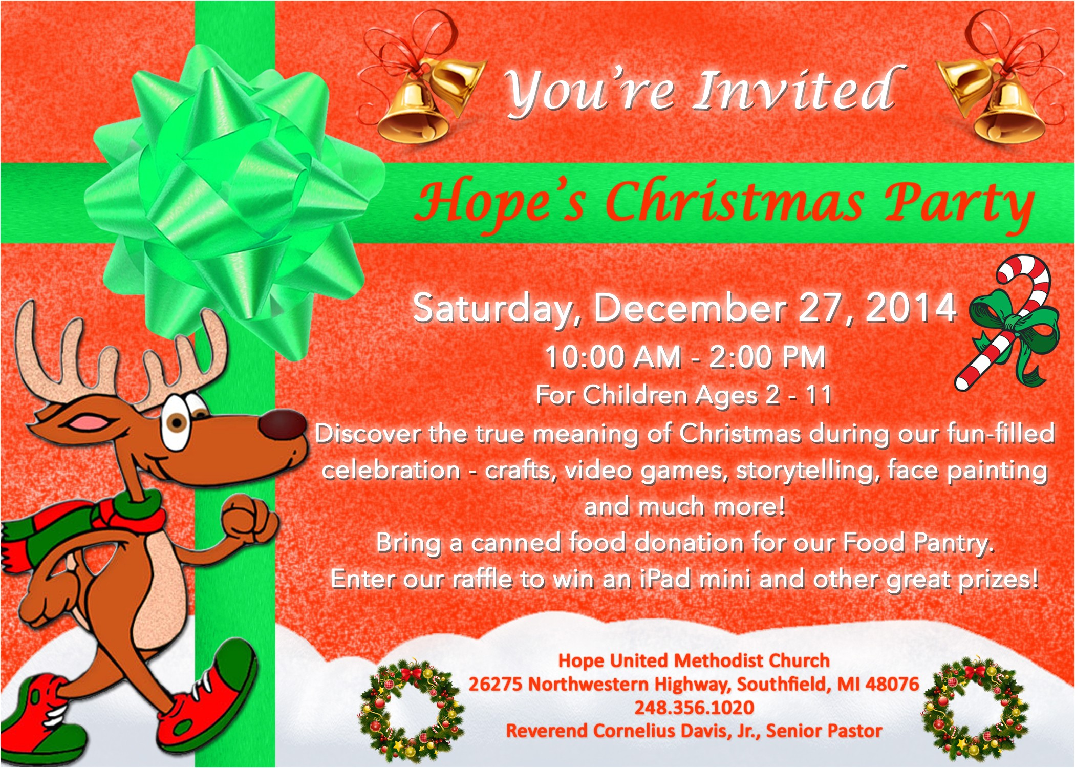 church christmas party invitation