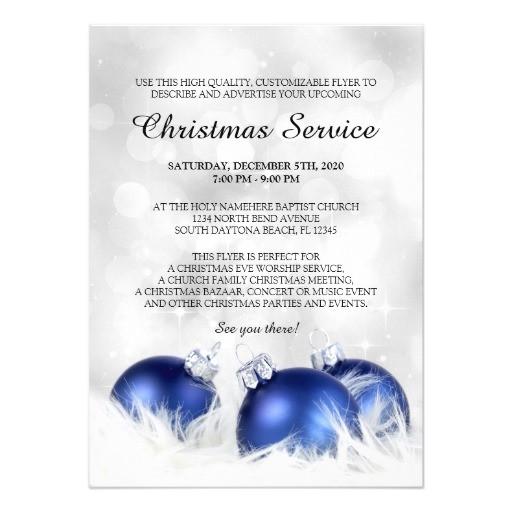 church christmas service invitation template 161961473936346317