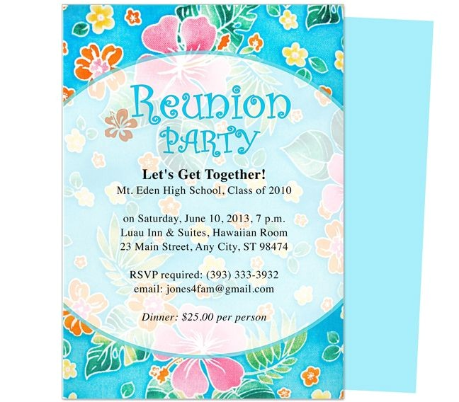 printable family and class reunion templates