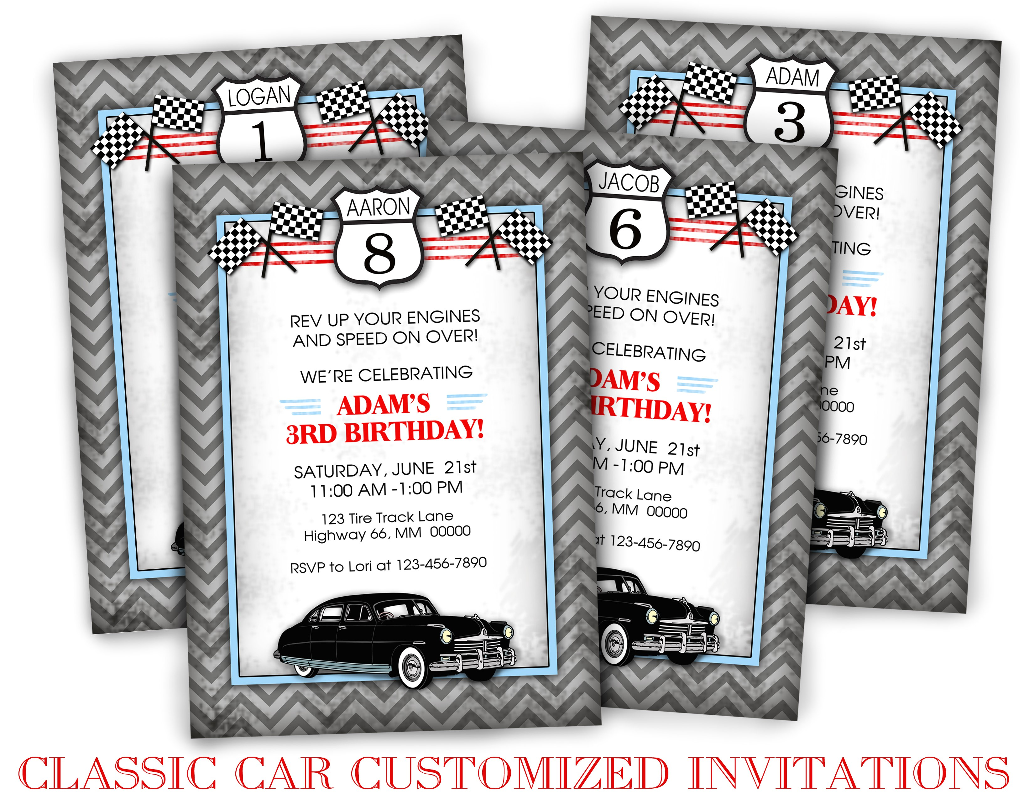 classic car birthday party