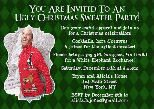funny christmas invitation wordings