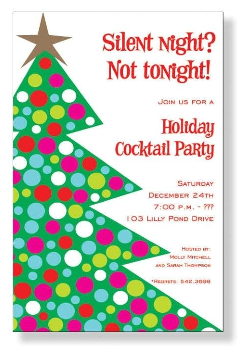 funny christmas party invitation wording