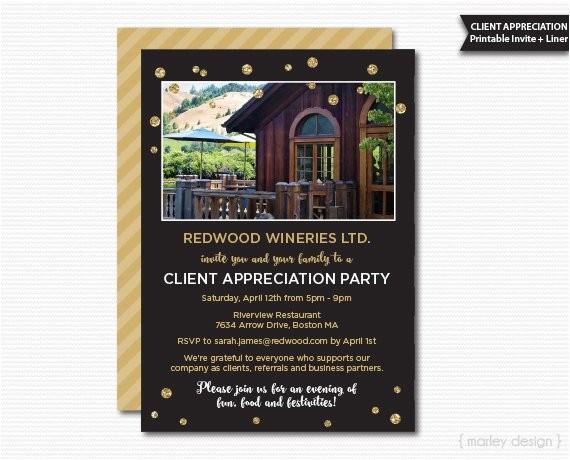 client appreciation invitation office
