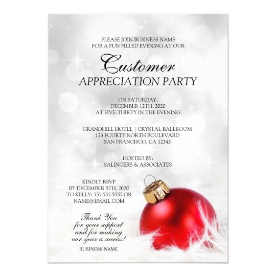 elegant holiday customer appreciation party invite 256911547826009089