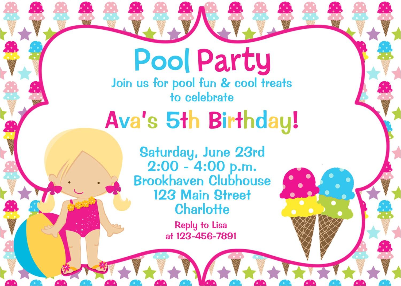 birthday party invitation clipart