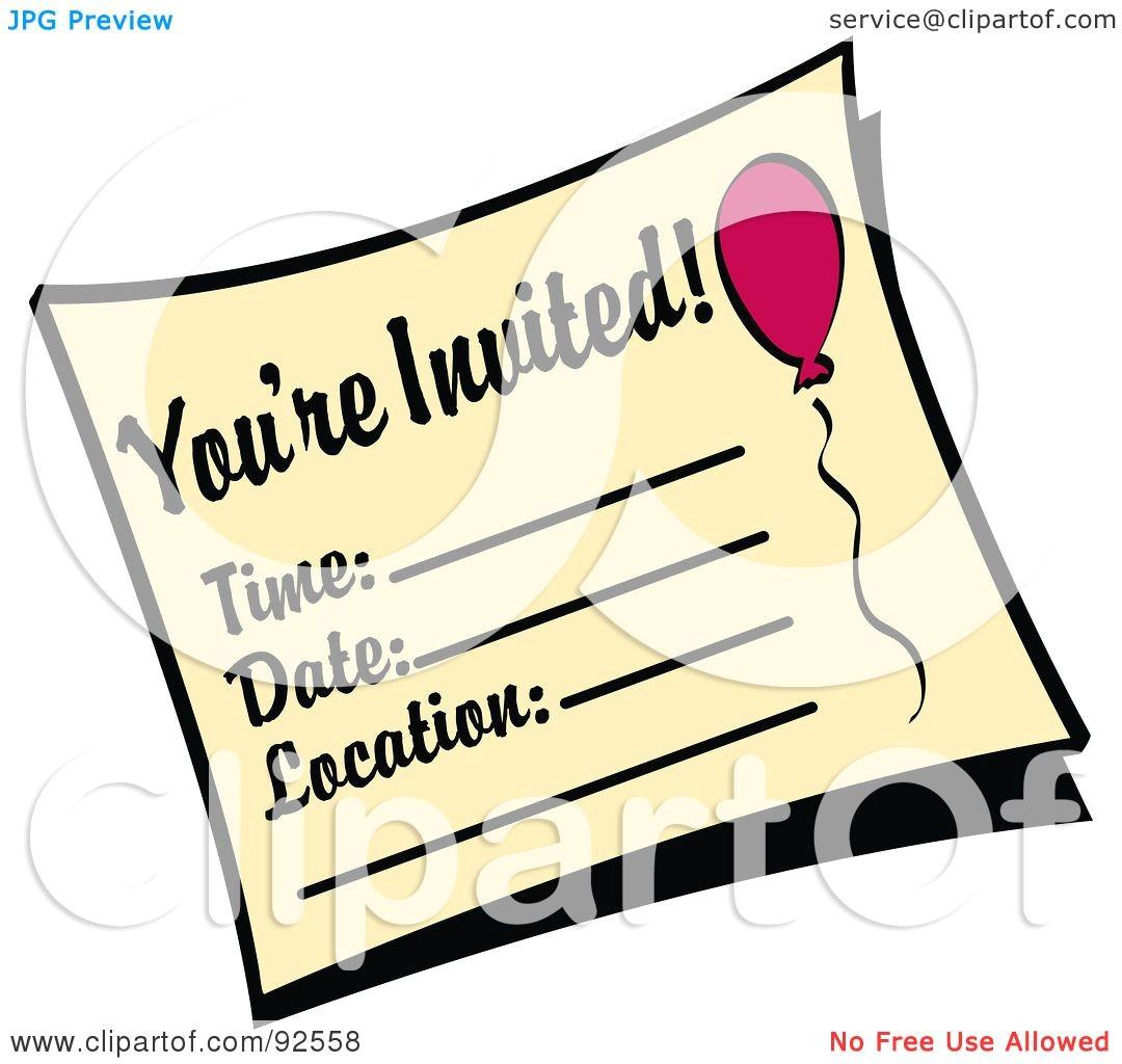 youre invited birthday party invitation 92558