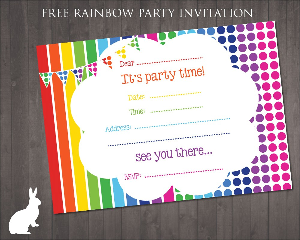 green color background party invitation templates with simple theme decorations 1000 ideas about rainbow birthday invitations on pinterest