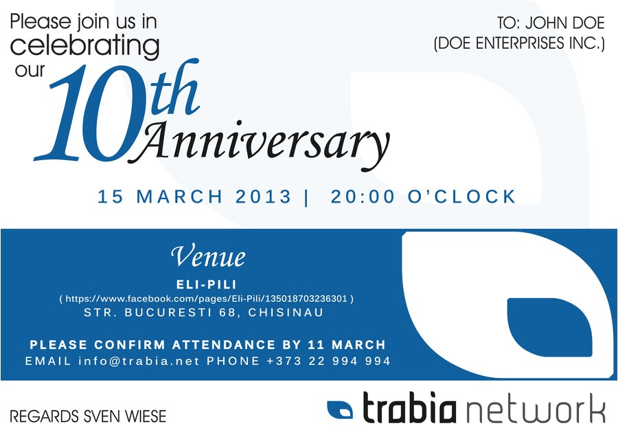 post business anniversary celebration invitation 239508