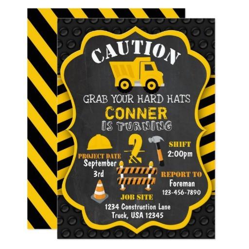 construction birthday invitation dump truck 256699466986784698