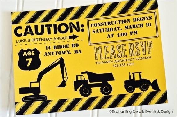 construction birthday invitations template