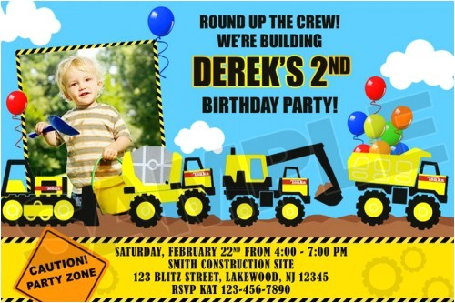 construction birthday party invitations template