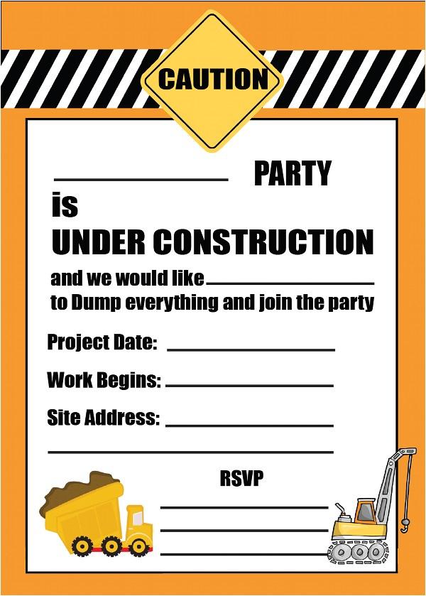 free printable kids tractor birthday invitation