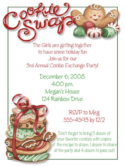 post cookie swap printable invitation template 348457