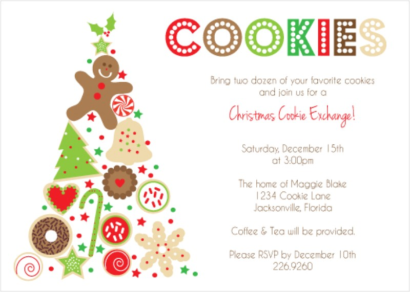 cookie exchange invitation templates