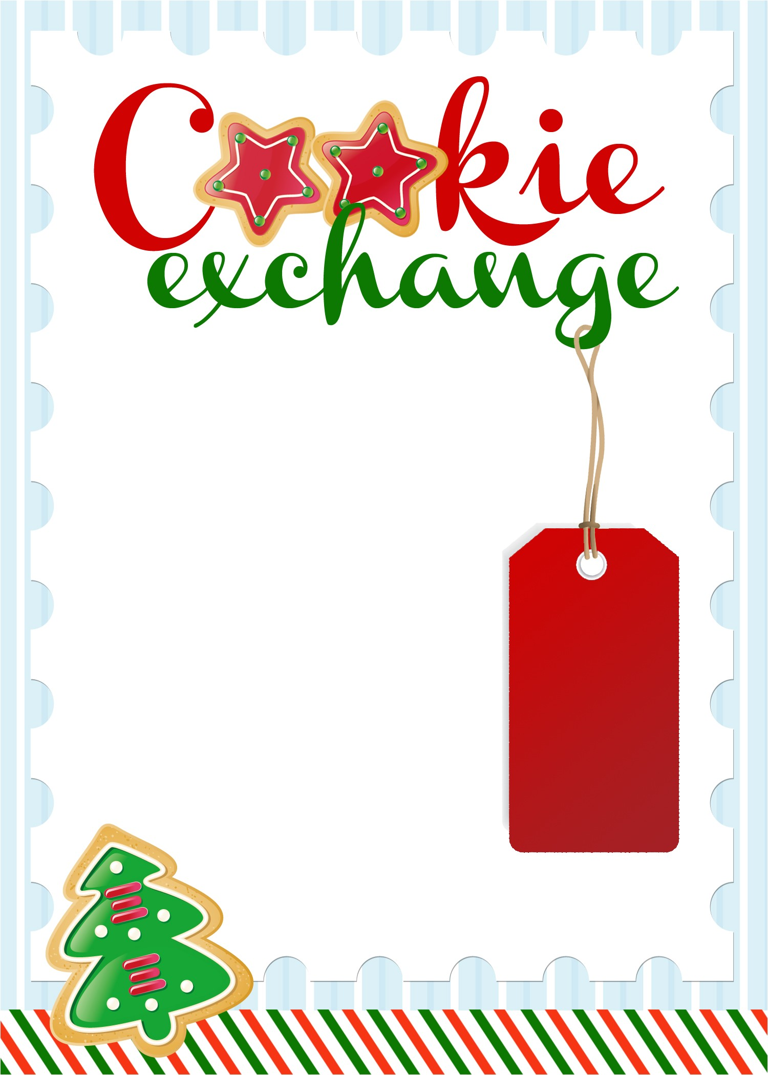 Cookie Swap Party Invitations Cookie Exchange Party Free Printables How to Nest for