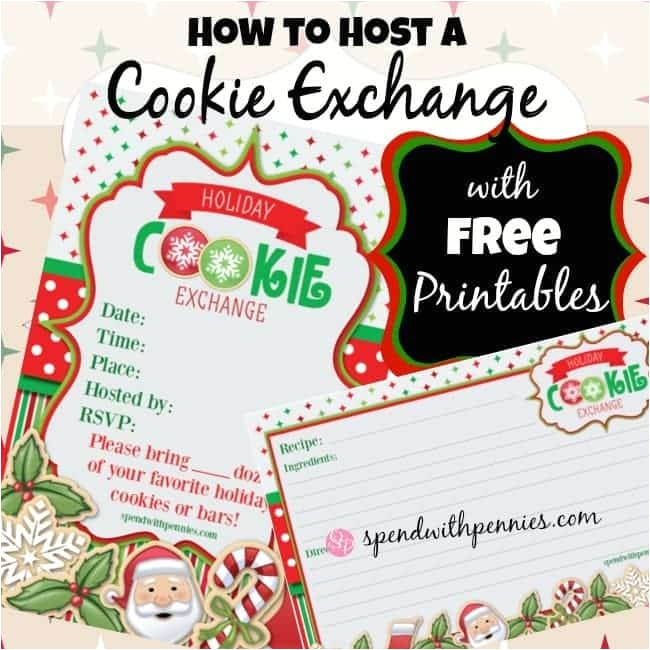 how to host a cookie exchange free printable invitations and recipe cards