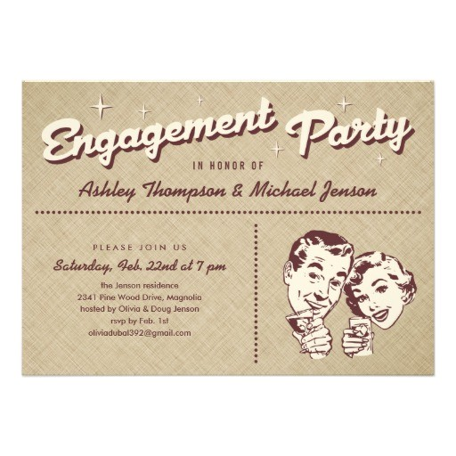 Cool Engagement Party Invitations Unique Engagement Party Invitations 5 Quot X 7 Quot Invitation