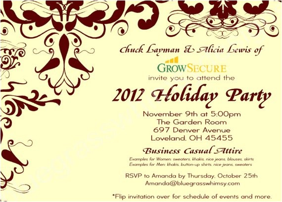 custom corporate holiday party