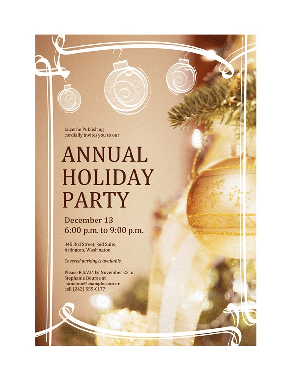 holiday party invitation for business event 52