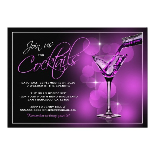 join us for cocktails invitations cocktail party card 256321617816295166