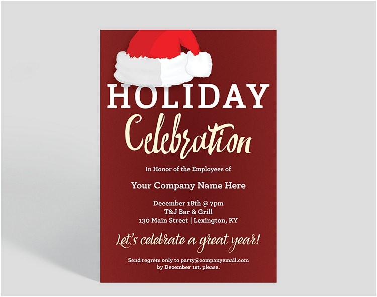 holiday hat corporate party invitation 1025680