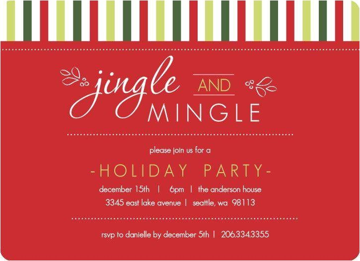 company holiday party invitation wording