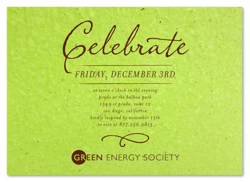 corporate party invitation wording