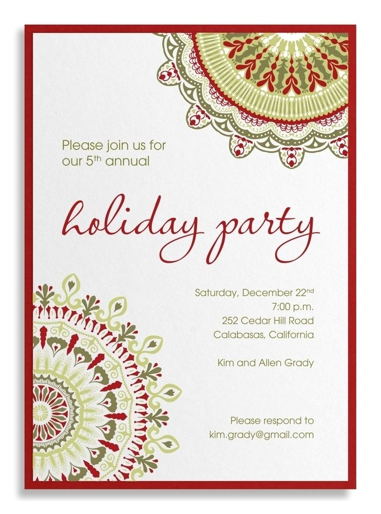 holiday party corporate invitation wording