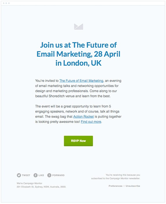 real examples of event invitation emails