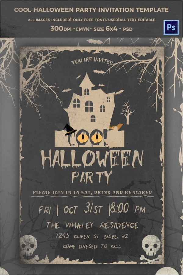 halloween invitation template