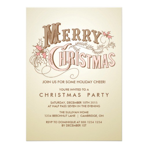 country rustic typography holiday party invitation 161473172737923925